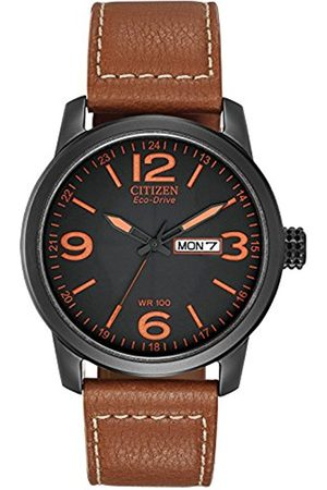 Citizen Men's Eco-Drive Watch with Dail Analogue Display and Leather Strap BM8475-26E