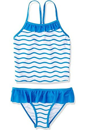 Girls Tankinis - Girl's Wave Stripe Top and Brief Tankini