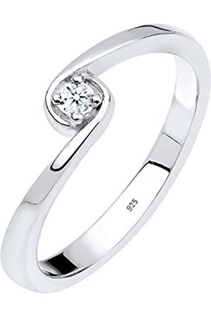 Women Rings - DIAMORE Women Solitaire Ring 925 Sterling Diamond White 0.03ct 0604941213_58