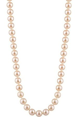 Women Necklaces - 8-8.5 mm Freshwater Pearl Strand 16 inch Necklace with Sterling Silver Clasp