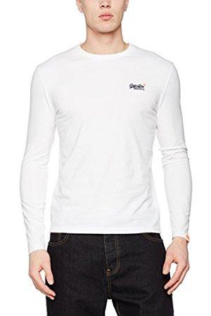 Men Long Sleeve - Superdry Men's Orange Label L/S Vntge Emb T-Shirt
