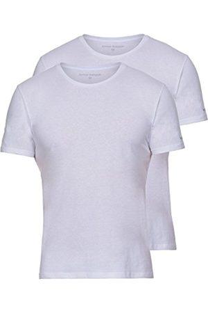 Men Vests & T-shirts - Bruno Banani Men's Shirt 2er Pack Pure Cotton Vest