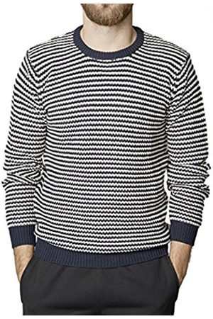 Men Jumpers & Sweaters - Suit Men's Condor-Stripe-SU3075 Sports Jumper, Multicoloured-Mehrfarbig (Navy/Off Stripe 4330)