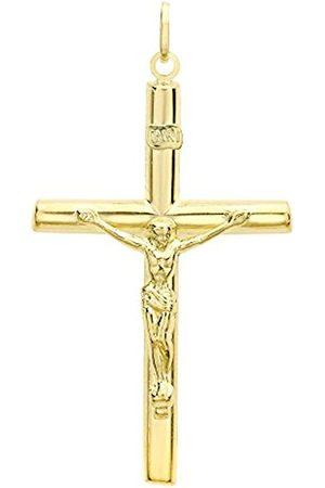 Necklaces - Carissima Gold 9 ct Gold Unisex Crucifix Pendant
