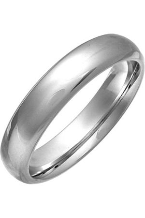 Women Rings - THEIA Court Highly Polished 5mm Wedding ring for Men or Women - Size M