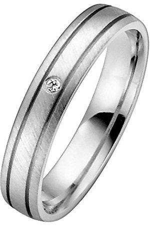 Trauringe Liebe hoch zwei Rings - Unisex 04004711843156 I1 0.01 carats Diamond 8ct Ring Size P 1/2