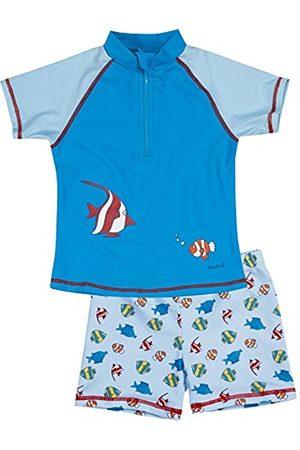 Boys Swim Shorts - Playshoes Boy's UV Sun Protection 2 Piece Fish Swim Shorts