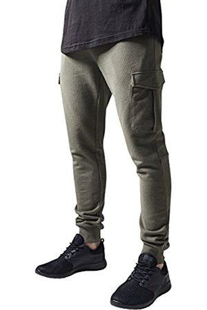 Men Cargo Trousers - Urban classics Men's Fitted Cargo Sweatpants Trousers, -Grün (Olive 176)
