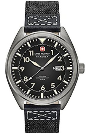 Swiss Military Men's SM34521AEU/H02 Quartz Watch with Dial Analogue Display and Fabric Strap