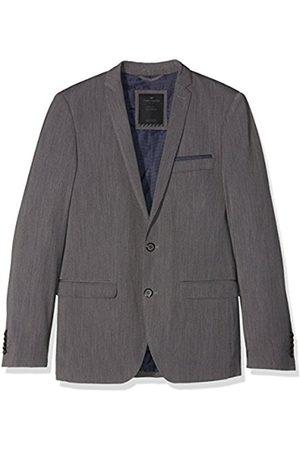 Men Blazers - Tom Tailor Men's solid clean suit jacket Blazer, (Tarmac )