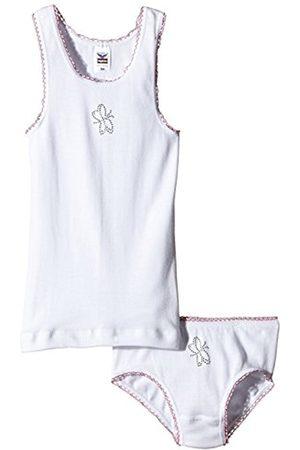 Trigema Girls Ski Thermal Underwear - Girl's Mädchen Unterwäsche-Set Feinripp Thermal, -Weiß (Weiss 001)