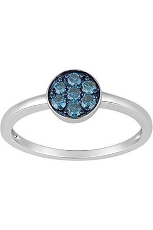 Women Rings - Sterling Silver Diamond Ring