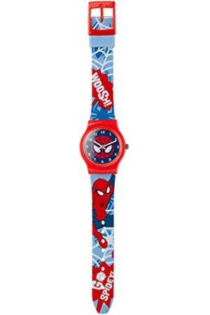 Boys Watches - SPIDERMAN Boy'sQuartzWatchwithMulticolourDialAnalogueDisplayandMulticolourPlasticStrapSPM73
