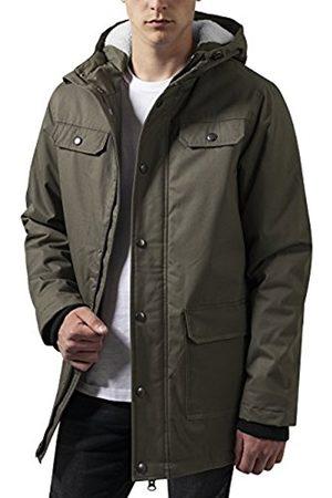 Men Parkas - Urban classics Men's Heavy Cotton Parka Jacket, -Grün (Olive 176)