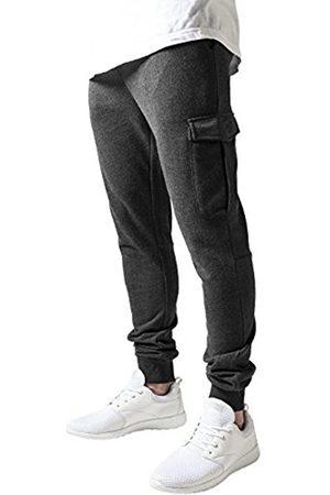 Men Cargo Trousers - Urban classics Men's Fitted Cargo Sweatpants Trousers, -Grau (Charcoal 91)