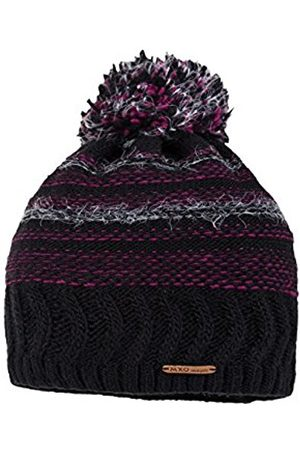 Girls Hats - maximo Girl's 63575-230900 Hat, Multicoloured-Mehrfarbig (Schwarz/Berry 4632)
