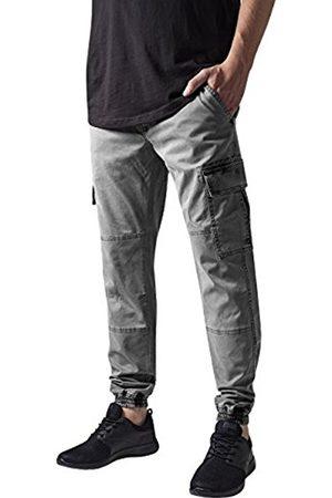 Men Cargo Trousers - Urban classics Men's Washed Cargo Twill Jogging Pants Trousers, -Grau ( 111)