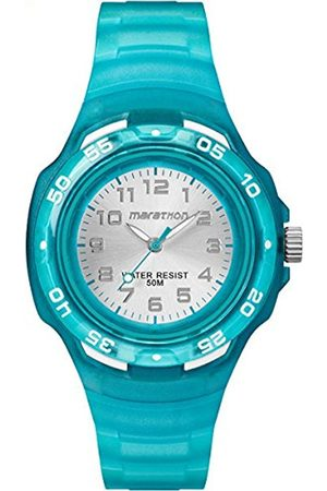Girls Watches - Timex Children's Quartz Watch with Silver Dial Analogue Display and Resin Strap TW5M06400