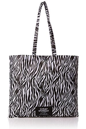Women Shopper & Tote Bags - Cheap Monday Unisex Adults' Rapid Tote Zebra Canvas and Beach Tote Bag