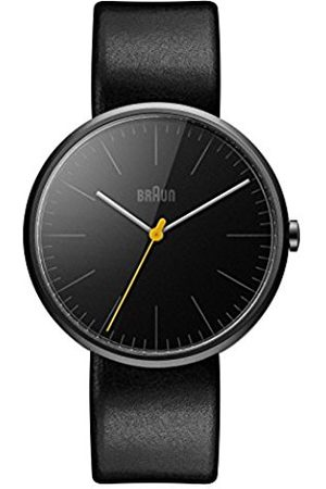 Men Watches - Men's Quartz Watch with Dial Analogue Display and Leather Strap BN0172BKBKG