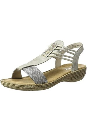 Womens 65858 Closed Toe Sandals, Grey/Argento, 4 UK Rieker