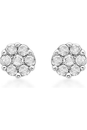Carissima Gold 9 ct 0.10 ct Diamond Cluster Stud Earrings