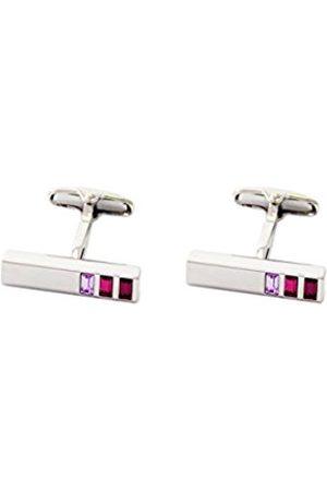 Cufflinks - Pink Contrast Colour Crystal Cufflink Bar