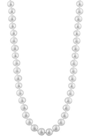 Women Necklaces - 8-8.5 mm Freshwater Pearl Strand 18 inch Necklace with Sterling Silver Clasp