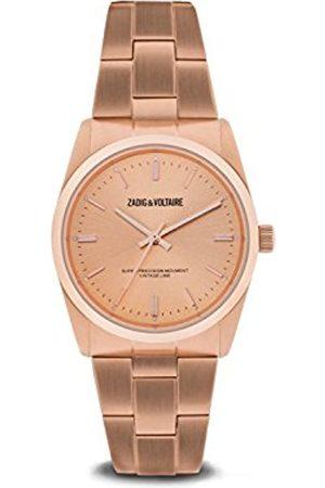 Zadig & Voltaire Unisex Date Quartz Watch with Stainless Steel Bracelet - ZVF230