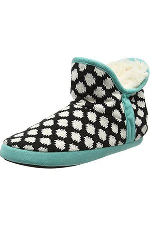 Women Slippers - Women's Fairisle Bootie with Microsuede Trim and Memory Foam Hi-Top Slippers, ( 00001)
