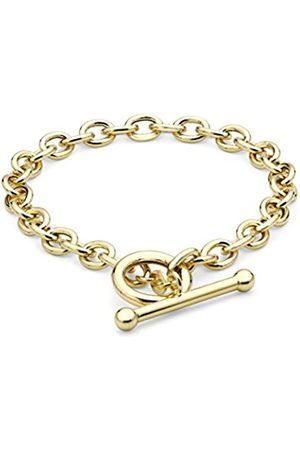 Women Bracelets - Carissima Gold 9 ct Oval T-Bar Bracelet 19.5 cm/8 inch