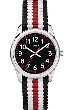 Girls Watches - Timex Children's Quartz Watch with Dial Analogue Display and Multi-Colour Nylon Strap TW7C10200