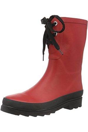 Women Ankle Boots - CANE + AUSTIN Women's Flace Welly Ankle Boots, -Rot ( 4)