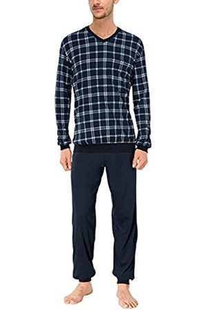 Men Pyjamas - Schiesser Men's Anzug Lang Pyjama Set, 146943