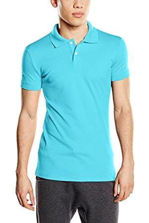 Men Polo Shirts - Trigema Men's Polo Shirt Blue Small