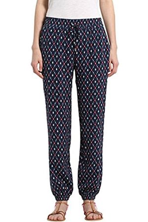 Berydale Women's Trousers In Flowing, Soft Quality, Navy/Red/ /