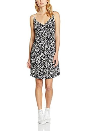 Women Printed Dresses - New Look Women's Mandy Cami Slip Dress, (Leopard Print)