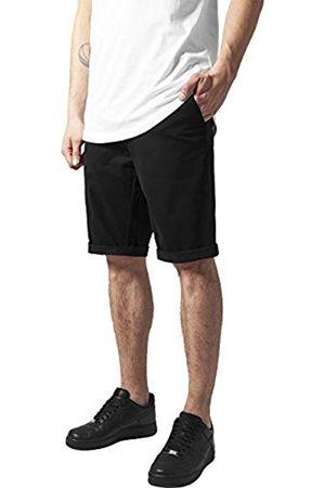 Men Shorts - Urban classics Men's Stretch Turnup Chino Shorts, -Schwarz ( 7)