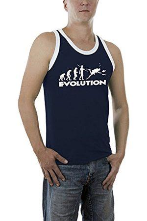 Men Vests & Camis - Touchlines Men's Evolution Dive Kontrast Vest, -Blau (Navy 18)