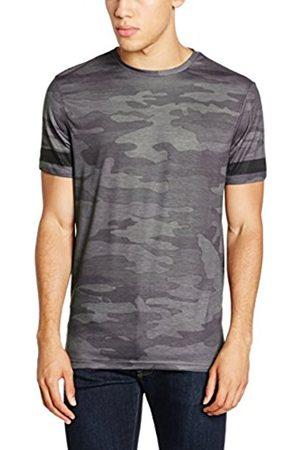 New Look Men's Camo Stripe Sleeve T-Shirt