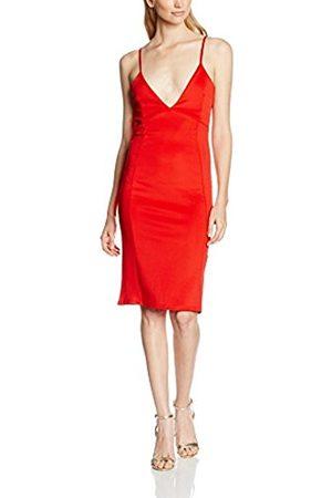 Women Midi Dresses - Boohoo Women's Enia Strappy Plunge Neck Bow Back Midi Dress