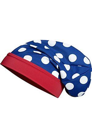 Girls Beanies - Playshoes Girl's Beanie große Punkte Seepferdchen mit UV-Schutz Hat, (blau/weiß)