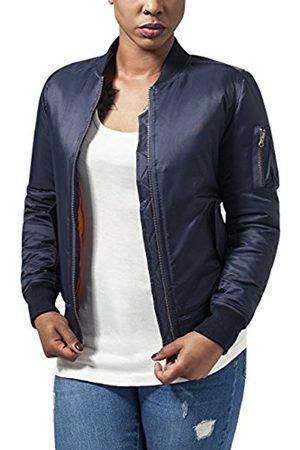 Women Bomber Jackets - Urban classics Women's Ladies Basic Bomber Jacket, -Blau (Navy 155)