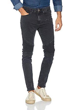 Men Jeans - New Look Men's Washed Biker Skinny Jeans