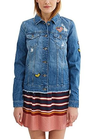 Women Denim Jackets - Esprit Women's 037cc1g010 Jacket