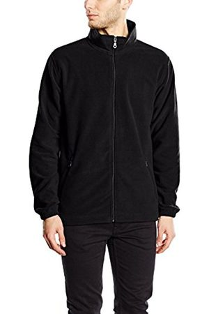 Men Fleece Jackets - Trigema Men's Jacket Schwarz (schwarz 008) XXX-Large