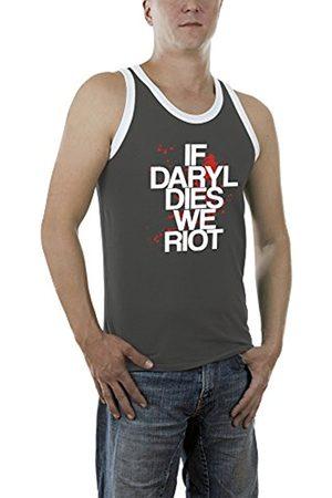 Men Vests & Camis - Touchlines Men's Daryl Dies Kontrast Vest, -Grau (Darkgrey 17)