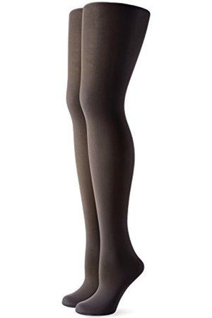 Women Tights & Stockings - Women's Strumpfhose Microfaser Blickdicht Mit Zwickel Im 2er Pack Tights, 50 Den