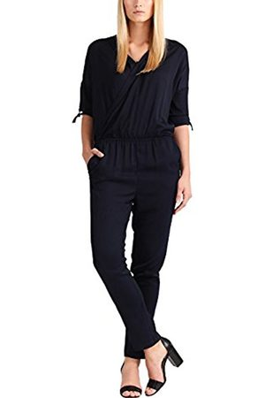 Women Jumpsuits & Playsuits - Women's Fashion: @Work Navy-Beige Jumpsuit