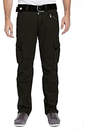 Men Cargo Trousers - Timezone Men's Benitotz Cargo Pants Incl Belt Trousers